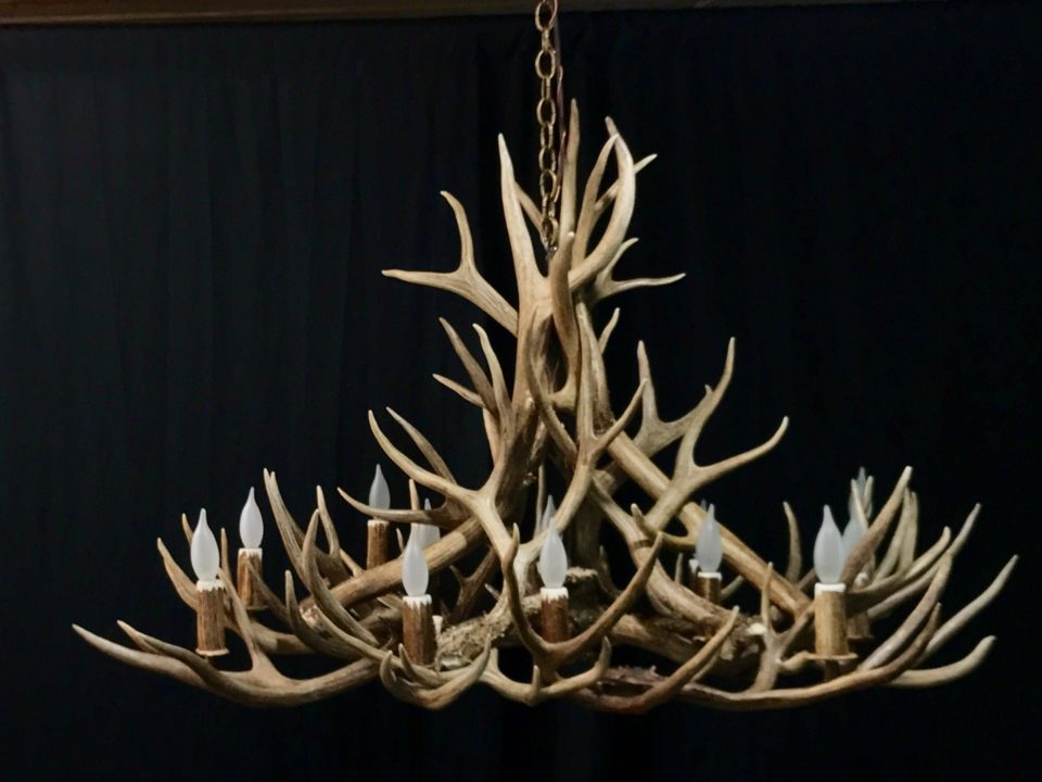 Oblong antler chandelier