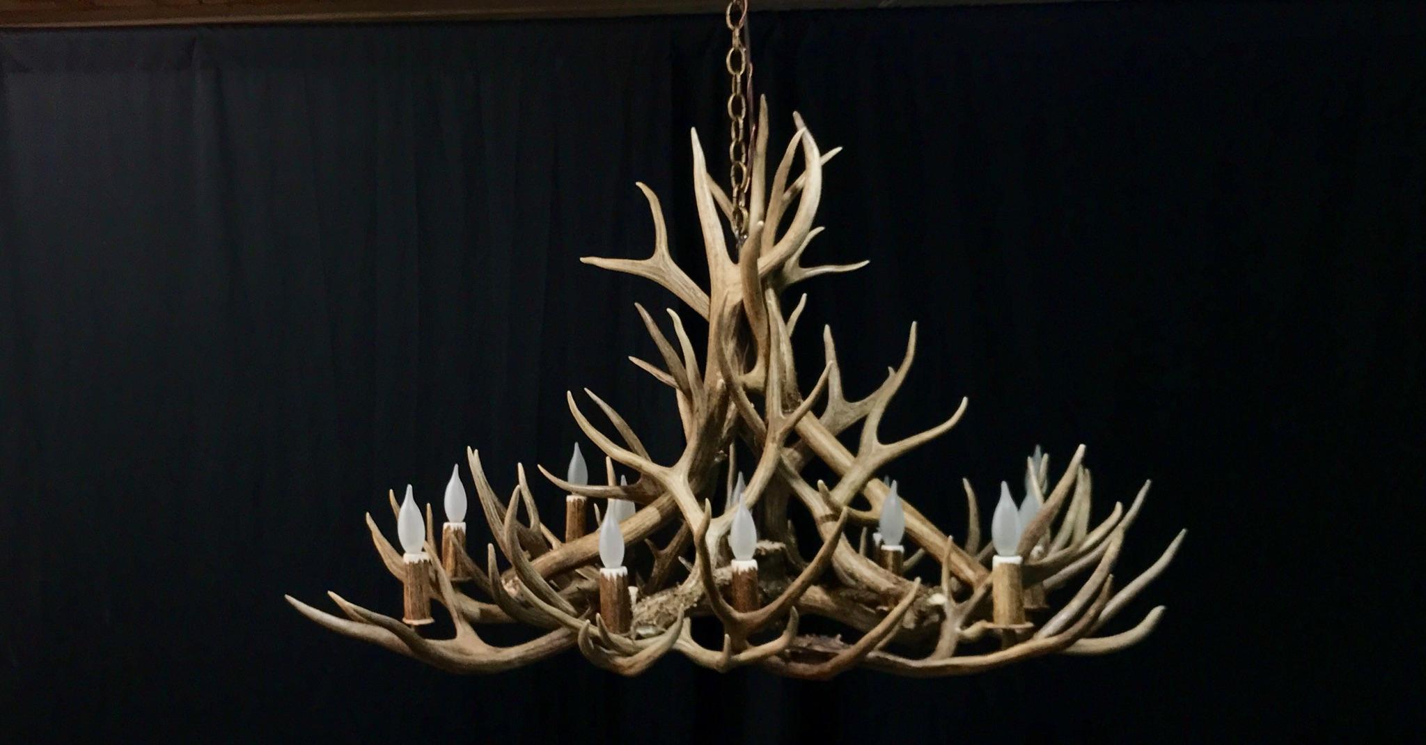 Oblong antler chandelier