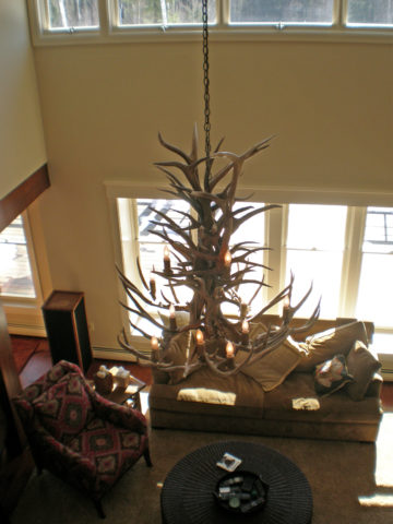 13 light top view