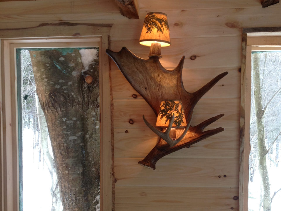 Double Light Antler Sconce