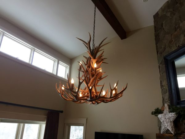 13 light chandelier side view