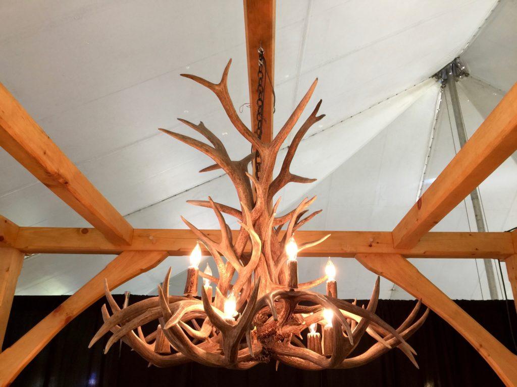 Inverted chandelier