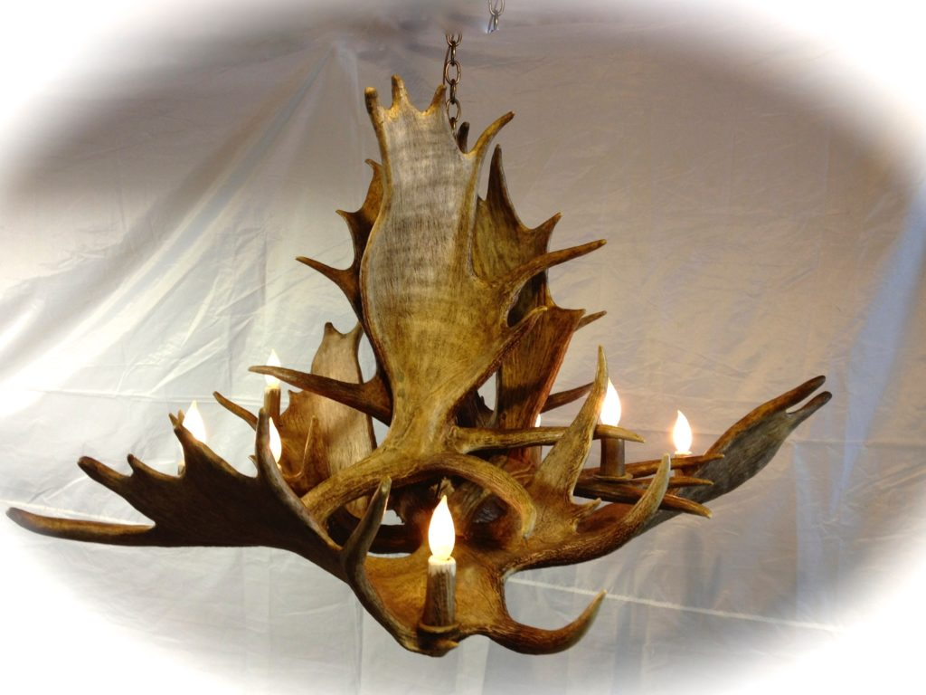 Large Moose Chandelier