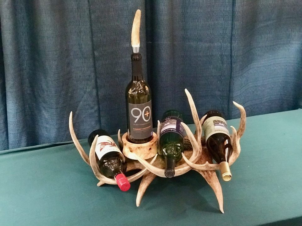Wine rack antler blend 4-bottles1