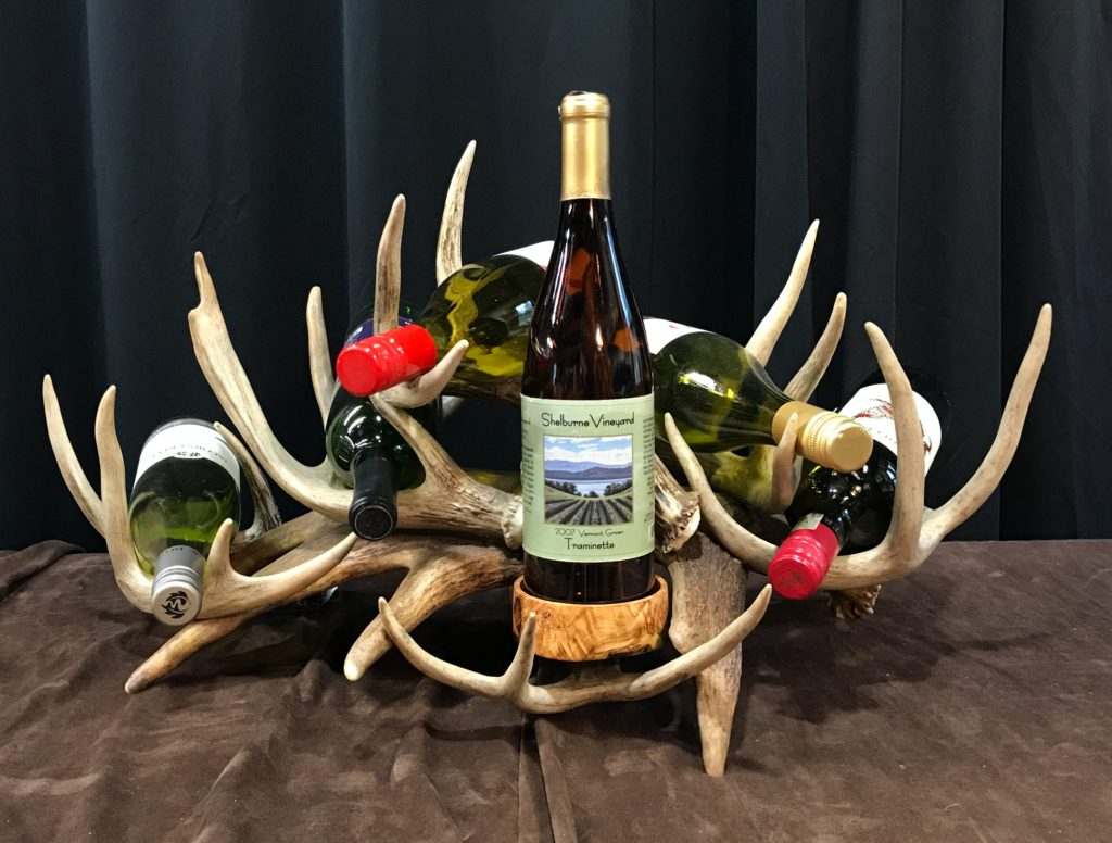 Antler wine rack 5 bottle